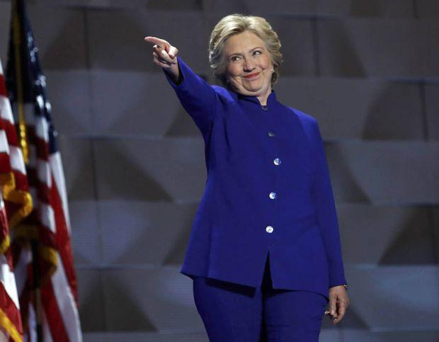 Democratic presidential nominee Clinton