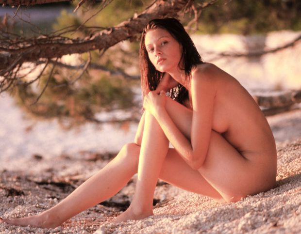 nude woman on the beach