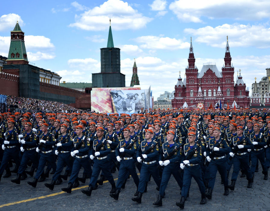 Victory Day parade rehearsal at the Red Square