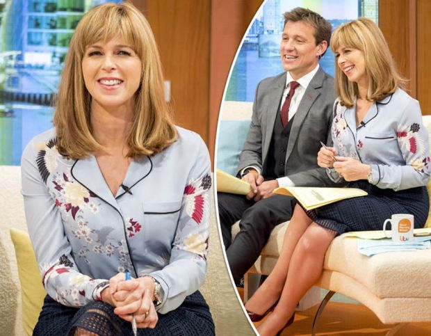 Kate Garraway is mocked for wearing her 'pyjamas' to host Good Morning Britain