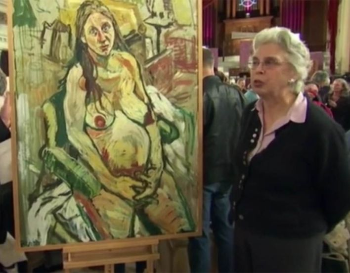 Antiques Roadshow surprised a woman by revealing her 'dirty painting' of a nude pregnant female was worth about £3,000 to £5,000