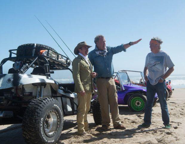 Jeremy Clarkson, Richard Hammond and James May travel across Namibia