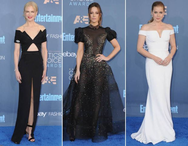 Nicole Kidman, Kate Beckinsale & Amy Adams lead the star-studded blue carpet for the annual Critics' Choice Awards