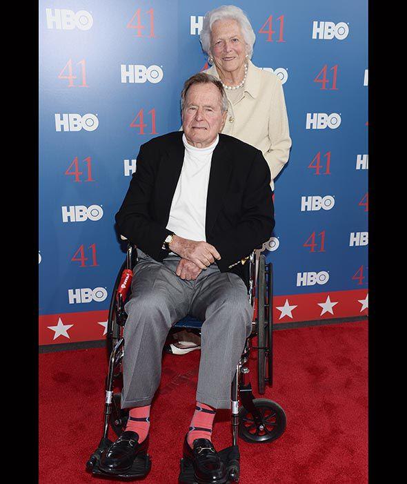 George Bush Sr and his wife Barbara Bush