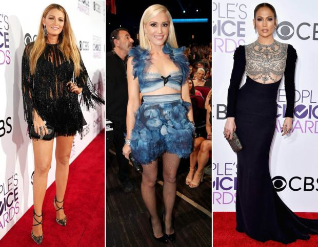 Blake Lively, Gwen Stefani & Jennifer Lopez at the People's Choice Awards