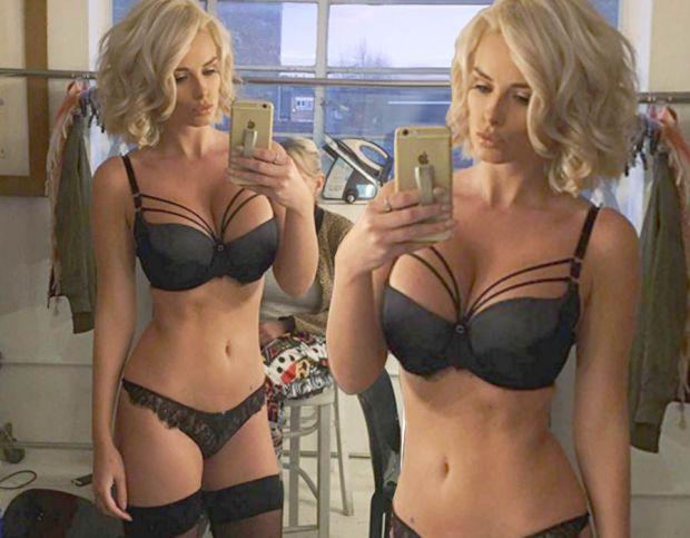 Rhian Sugden underwear bra