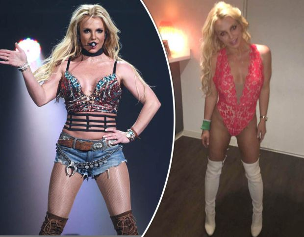 Britney Spears sends fans wild as she flashes the flesh in VERY revealing cut-out bodysuit