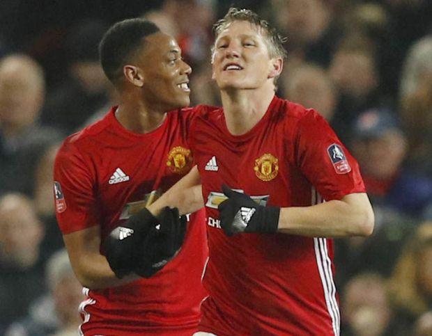 Bastian Schweinsteiger Anthony Martial Manchester United