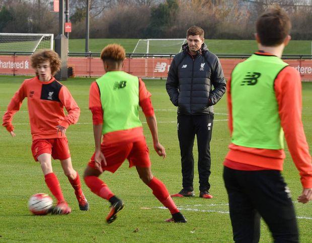 Steven Gerrard Liverpool academy coach