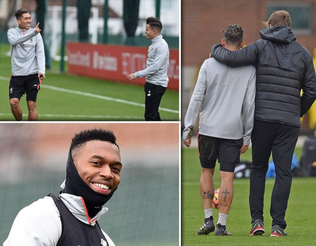 Liverpool-training-Firmino-Coutinho-Sturridge-Hull