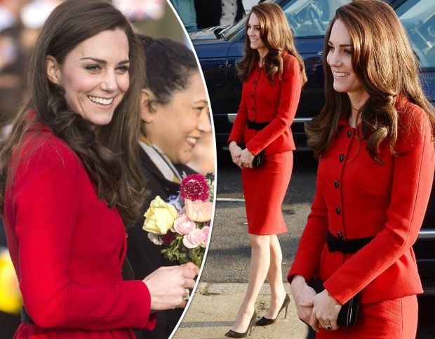 The Duchess of Cambridge arrives at London Primary school