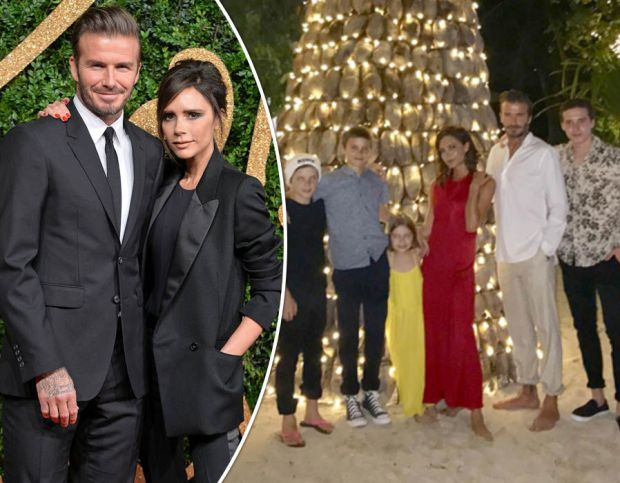 David and Victoria Beckham family