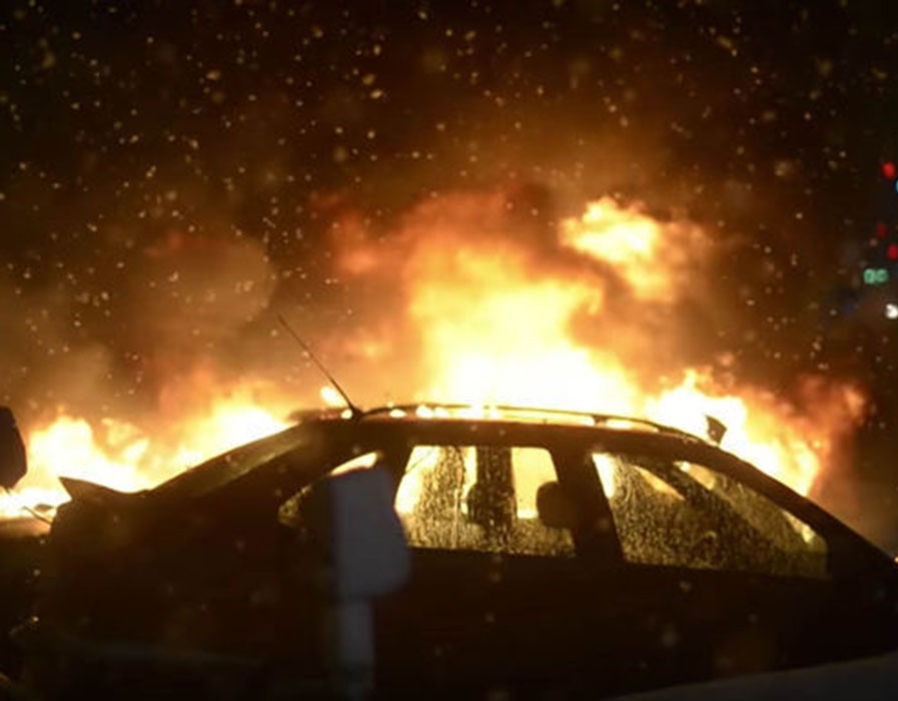 A horrified Swedish woman has said the country's third-largest city is descending into lawlessness after thugs set her car alight