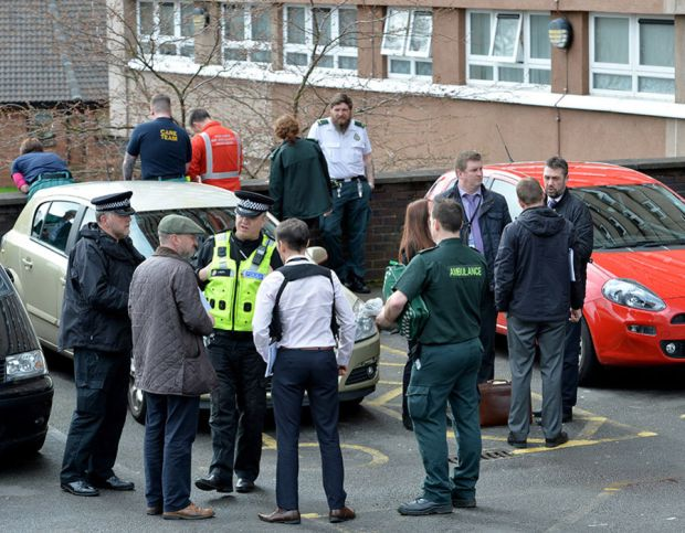 The scene at Highfield court