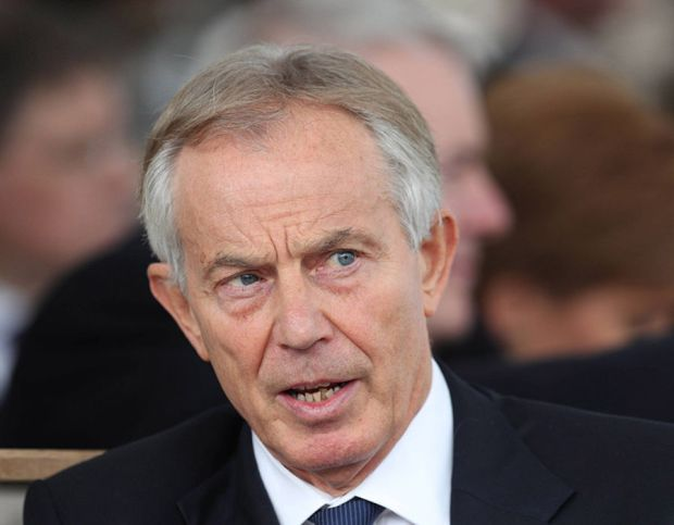 Former Prime Minister Tony Blair before the Military Drumhead Service on Horse Guards Parade in London