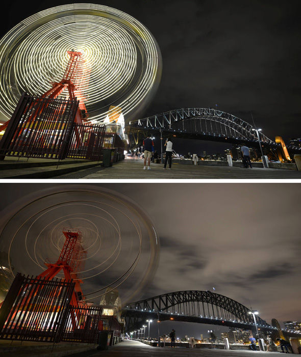 Luna Park and Sydney Harbour Bridge