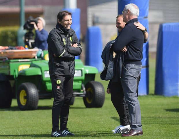 Claudio Ranieri Chelsea training