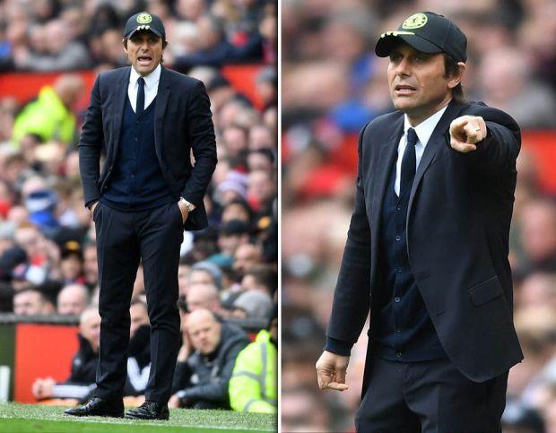 Antonio-Conte-cap-suit-Chelsea-Manchester-United