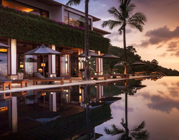 Villa Horizon, Phuket, Thailand  6 bedrooms from £2,710 per night. Floor-to-ceiling glass panels give travelers breathtaking views from the living room, the gym, and even the bath in the master bathroom