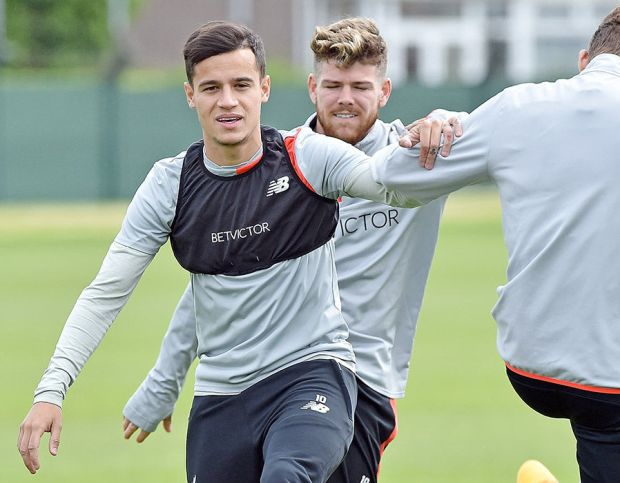 Liverpool training Middlesbrough