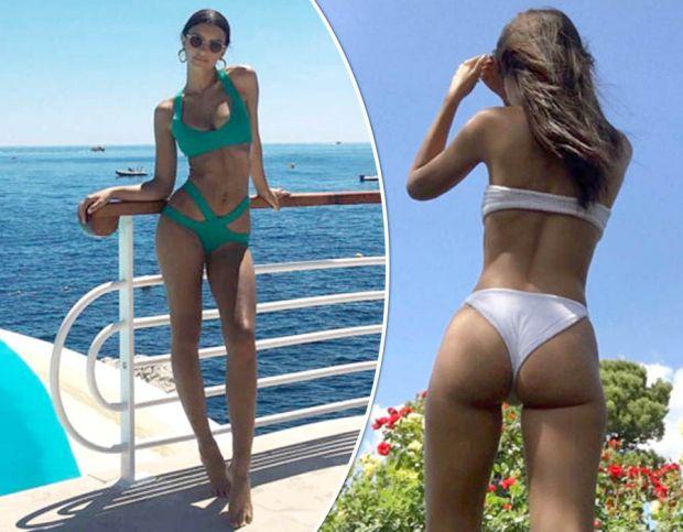 Emily Ratajkowski tiny thong bikini