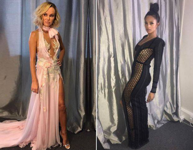 Amanda Holden and Alesha Dixon BGT dresses
