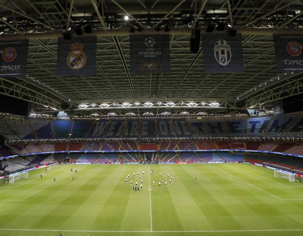 Juventus training Champions League final Real Madrid
