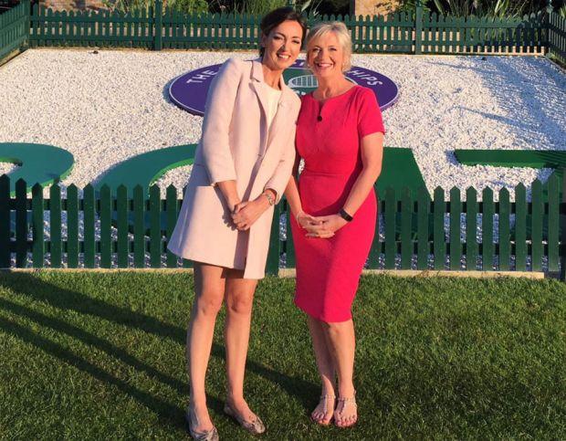 Carol Kirkwood at Wimbledon 2017