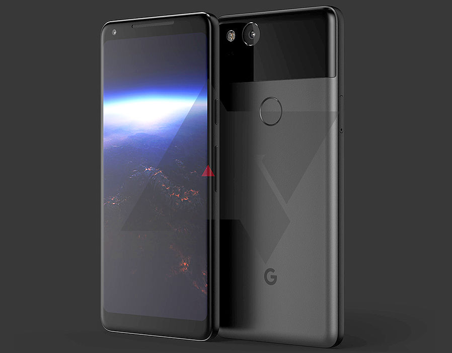 High-resolution render of the Google Pixel 2 XL, published by AndroidPolice   Android O UK release date REVEALED – Android 8 will arrive on devices next week | Tech | Life & Style 262239