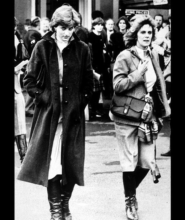 Lady Diana Spencer and Camilla Parker-Bowles at Ludlow ...