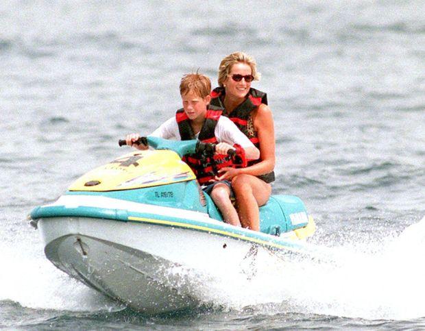 Princess Diana on holiday in Saint-Tropez