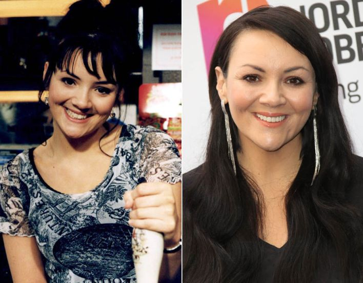 Martine McCutcheon as Tiffany in EastEnders in 1995 and now