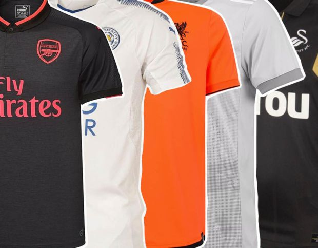 Premier League third kits ranked rated 2017/18