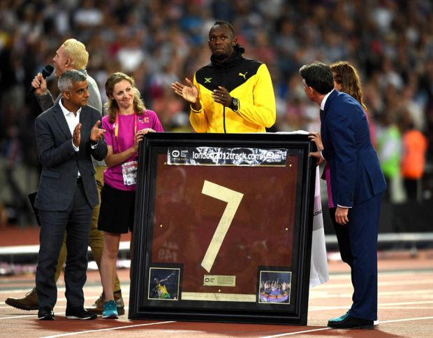 Usain Bolt gift World Athletics Championships