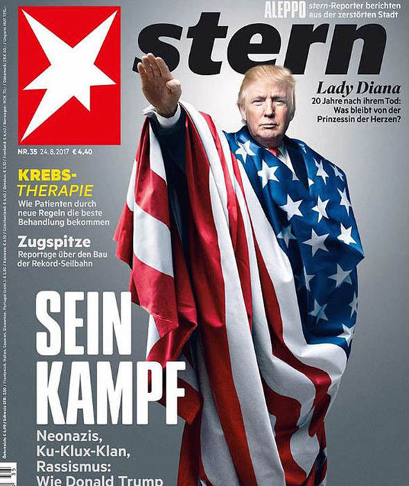 Donald Trump on the cover of Stern
