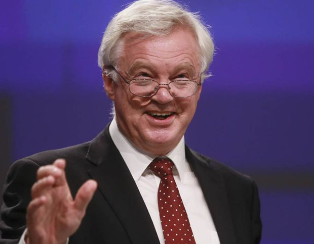 David Davis gives a press briefing at the end of third round of Negotiation on 'Brexit' talks at the EU Commission, in Brussels