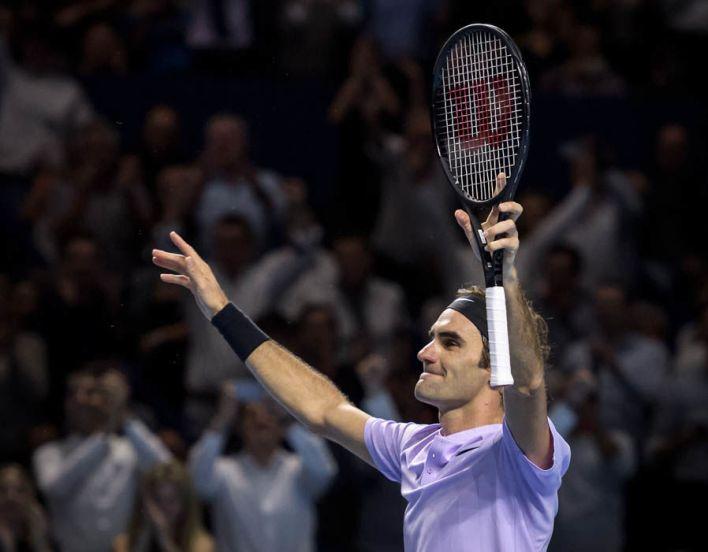 Roger Federer Swiss Indoors emotional
