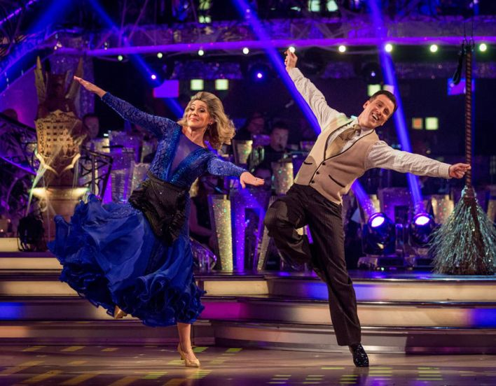 Ruth Langsford danced the Quickstep to the Bewitched theme song with partner Anton Du Beke