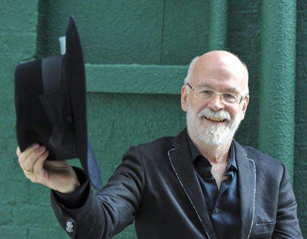 Author Terry Pratchett in St. James's, London