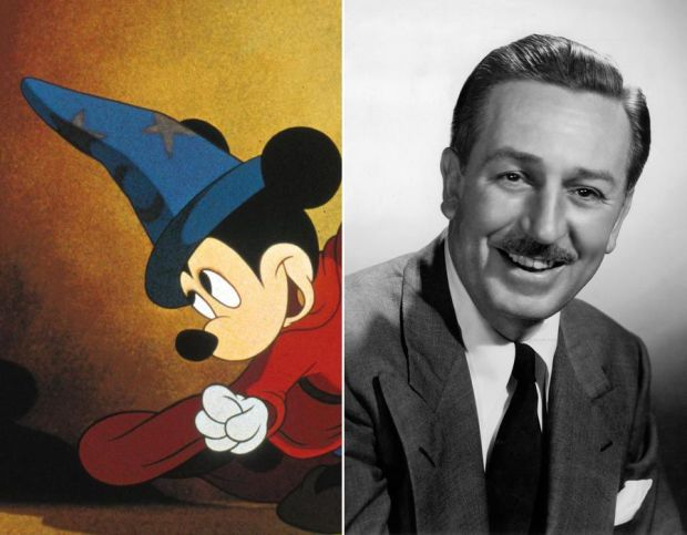 Walt Disney provided Mickey Mouse's trademark falsetto voice for almost 20 years, before his hectic schedule - and reportedly his smoker's voice - meant he could no longer continue.
