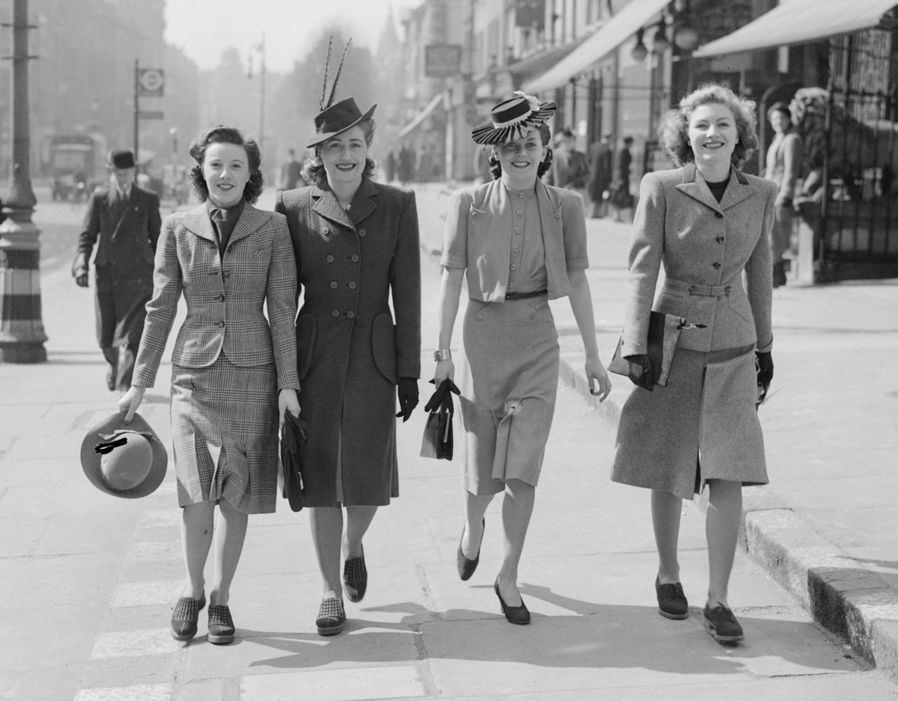Fashion on the Ration  1940s street style   Pictures   Pics     Women in 1940s clothes