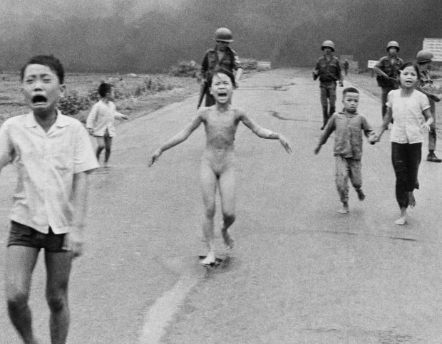Phan Thj Kim Phuc Vietnam girl running