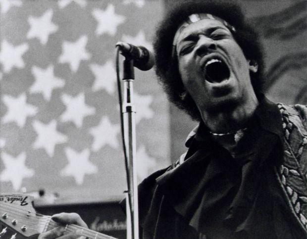 Jimi Hendrix Performing Sacramento