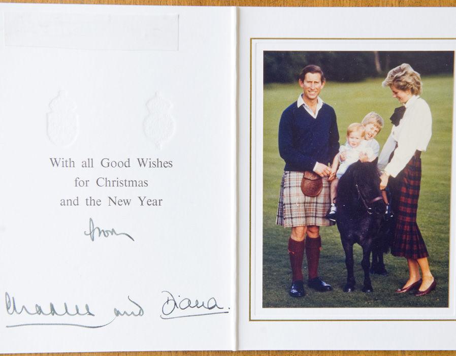 Prince Charles Princess Diana Christmas Card 1985 Royal