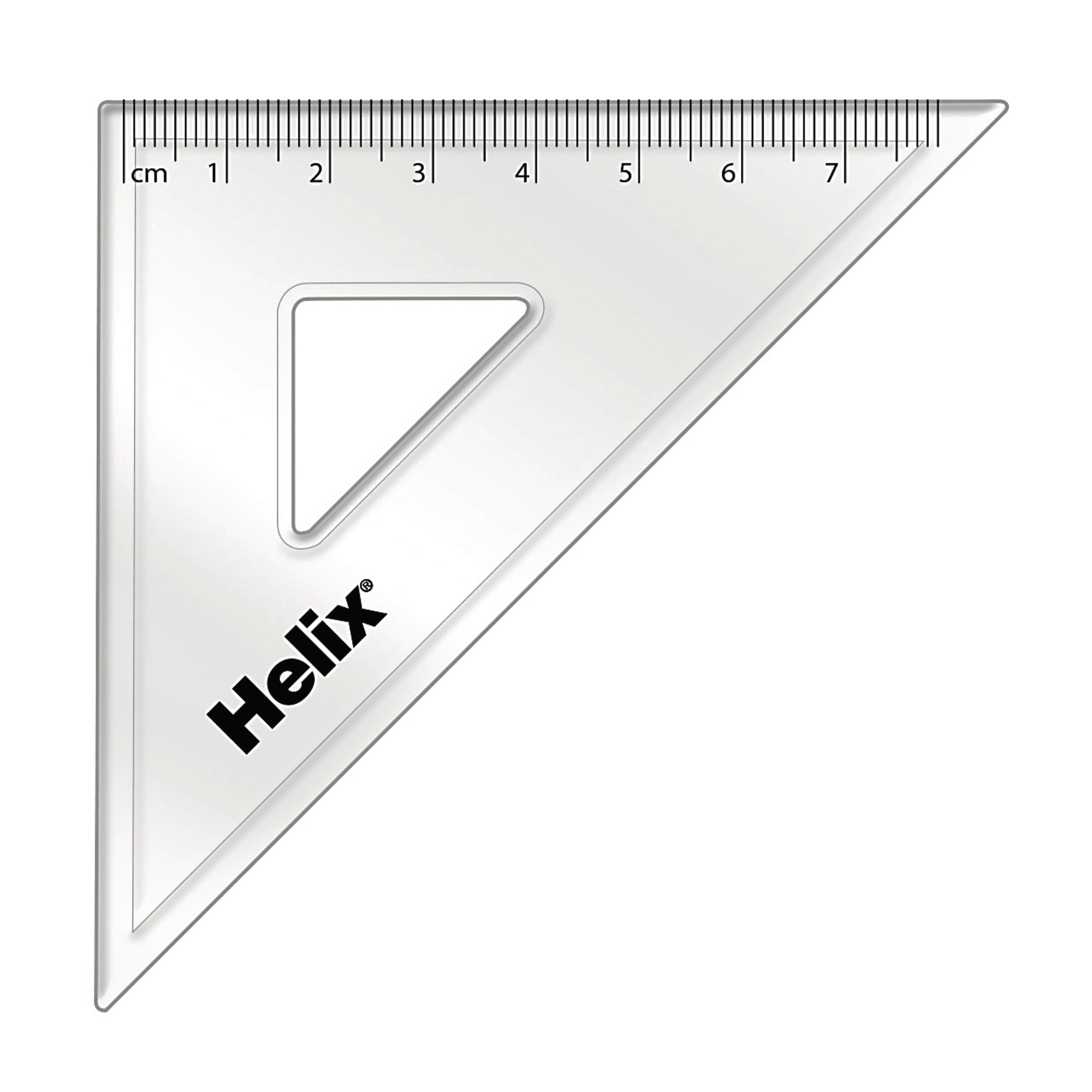 Set Square Clear 45 Degree 120mm Pack 36
