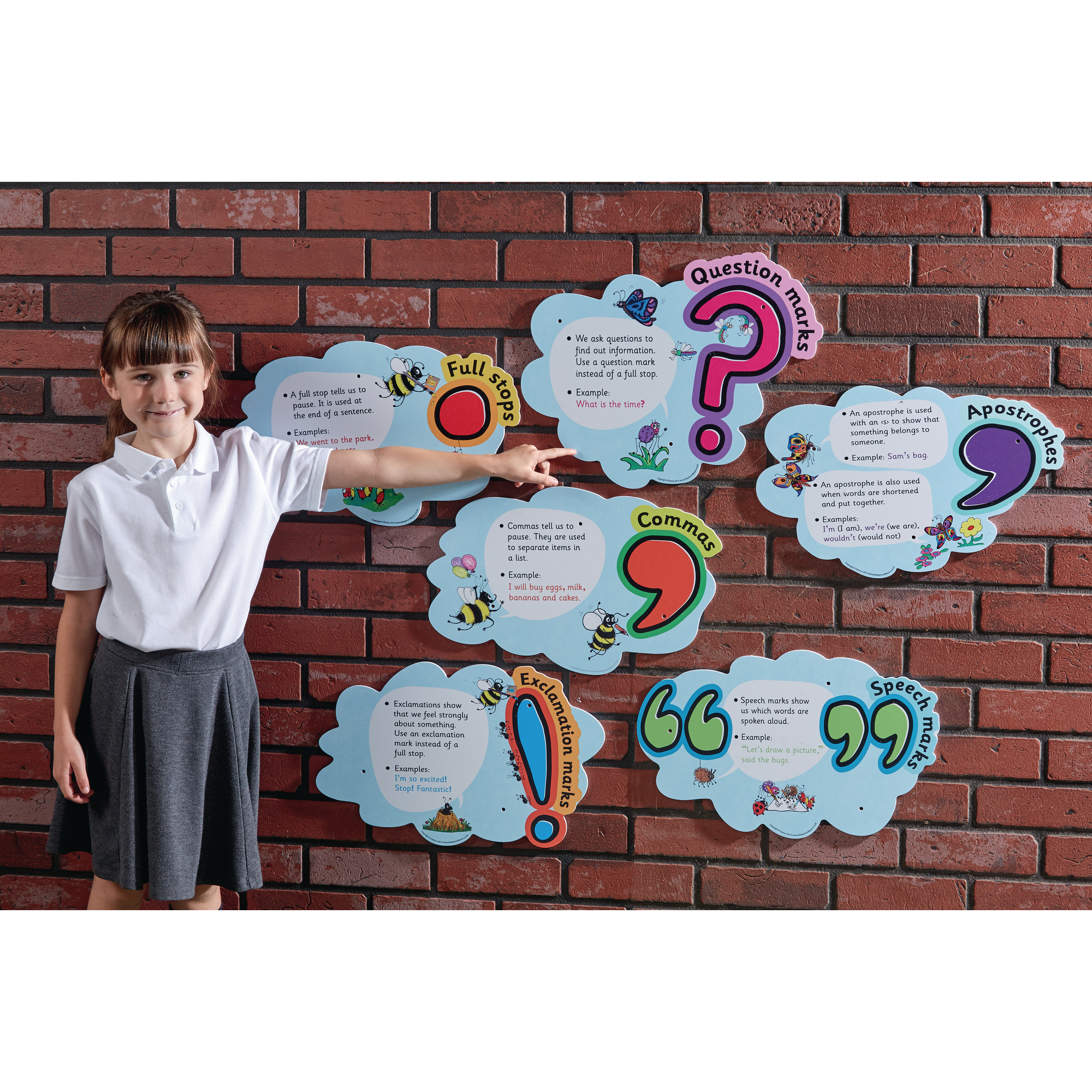 Jolly Phonics Punctuation Clouds