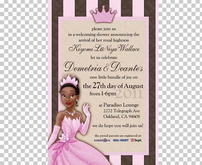 Tiana Disney Princess Wedding Invitation Birthday Png