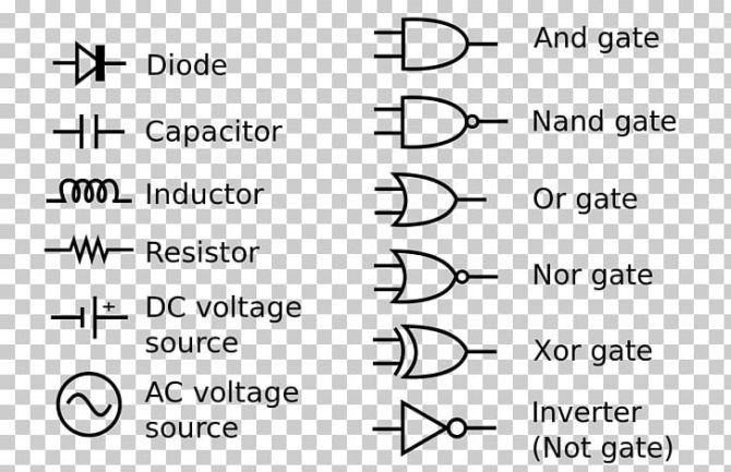 electronic symbol circuit diagram wiring diagram schematic
