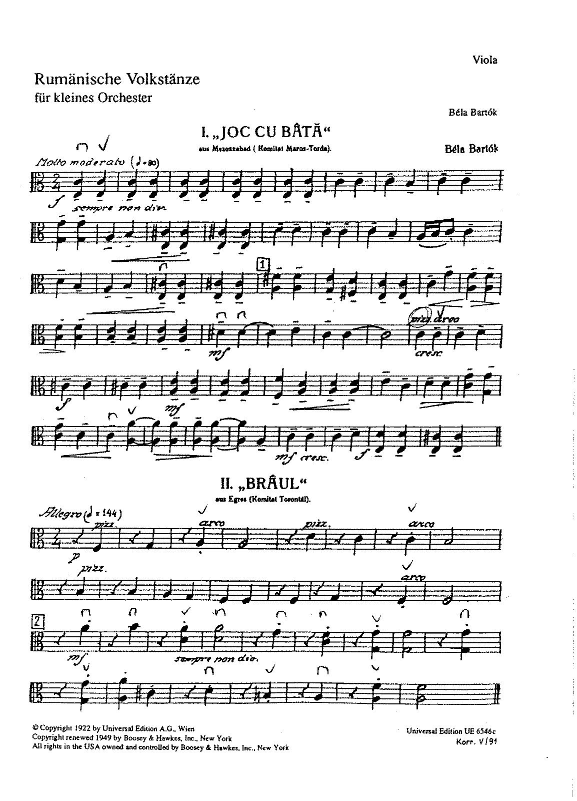 Bartok Romanian Dances Violin Piano Pictures