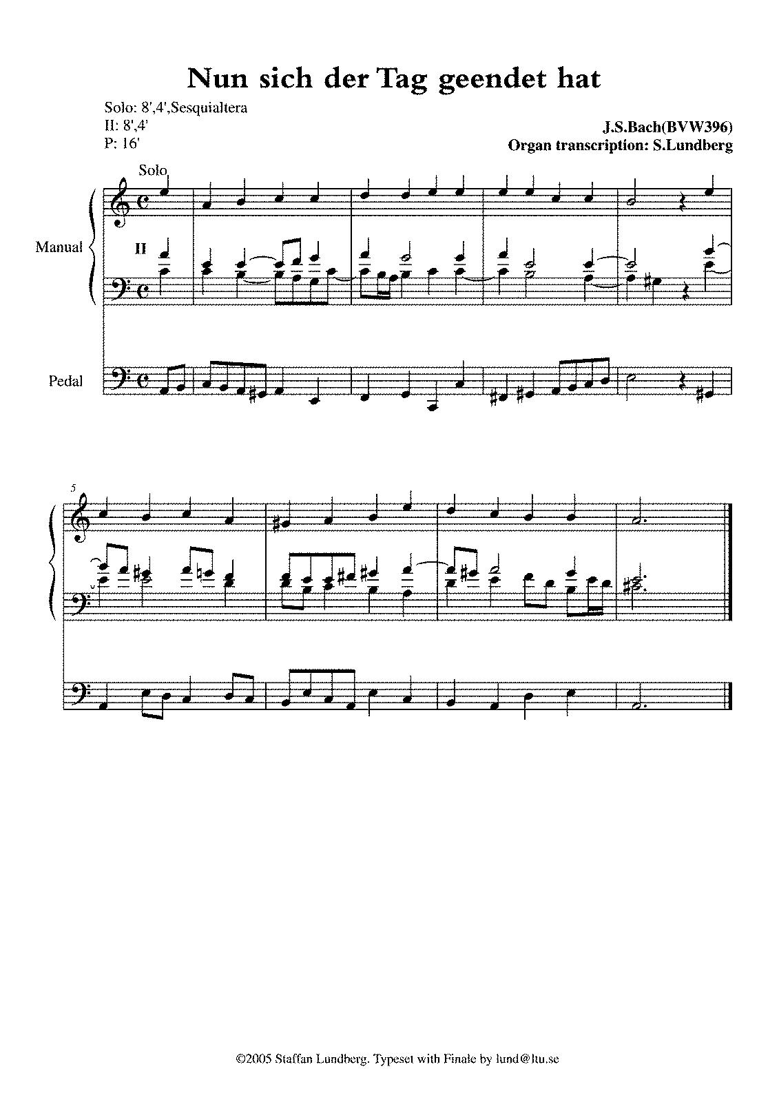 Bach Chorales Sheet Music Free